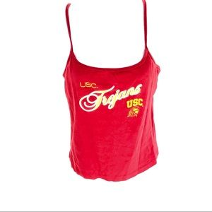 USC Women's Tank Top Built In Bra Red M